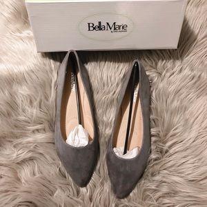 Shoes - NIB Grey Suede Flats
